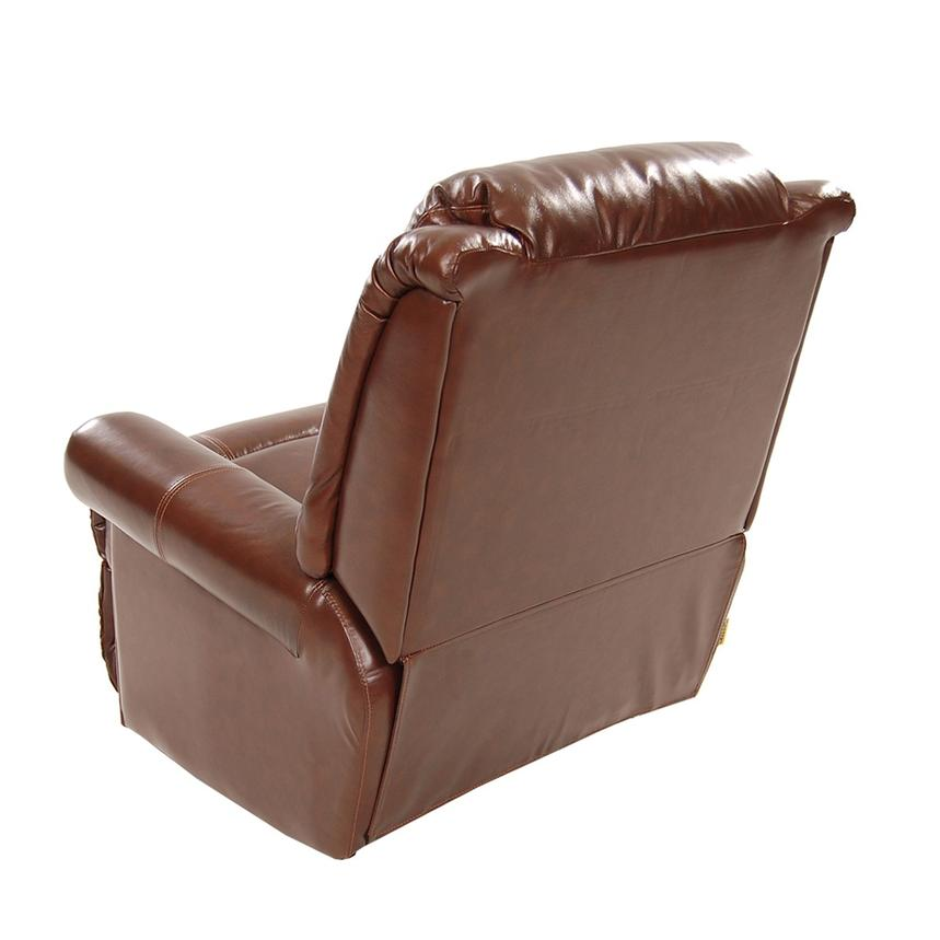 Mount Brown Leather Power Recliner  alternate image, 4 of 8 images.