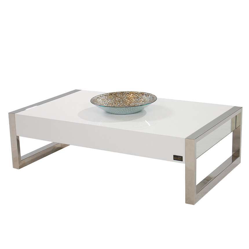 Tamara White Coffee Table  main image, 1 of 8 images.