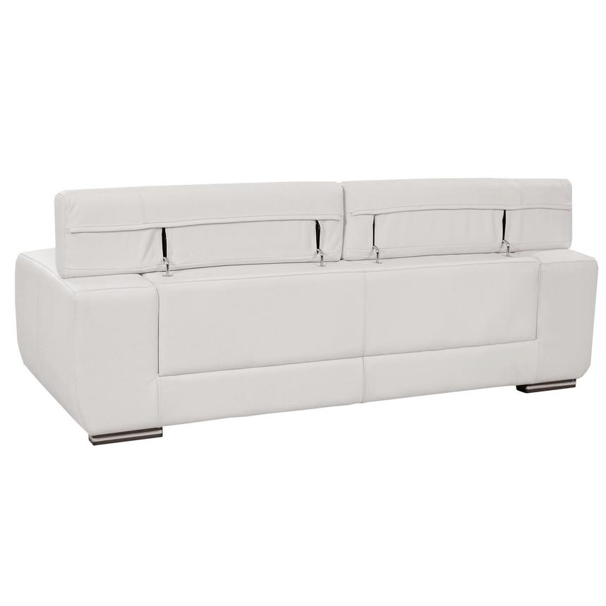 Grace White Leather Sofa