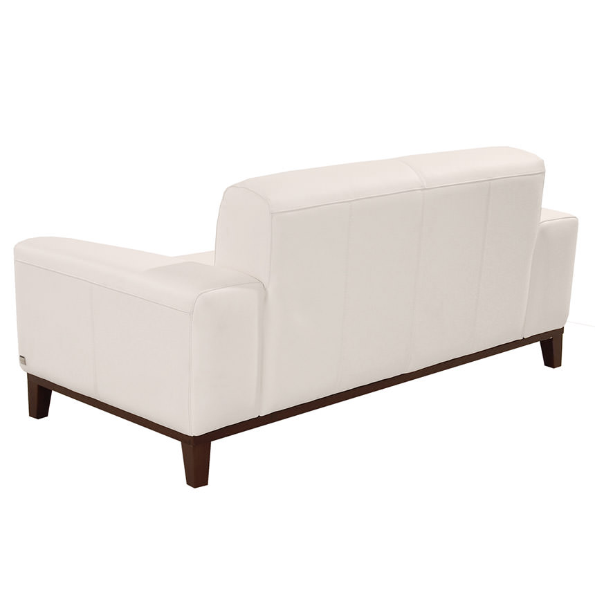 Milani White Leather Loveseat  alternate image, 4 of 6 images.
