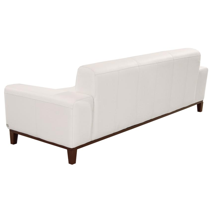 Milani White Leather Sofa  alternate image, 4 of 6 images.