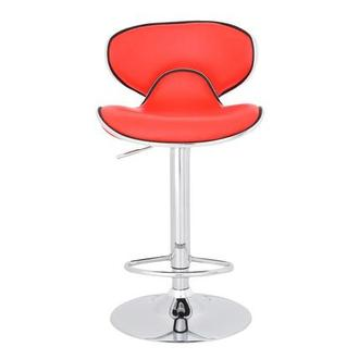Clipper Red Adjustable Stool