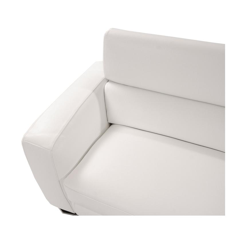 Sparta White Leather Sofa w/Right Chaise  alternate image, 5 of 7 images.