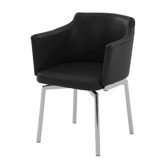 Dusty Black Swivel Side Chair
