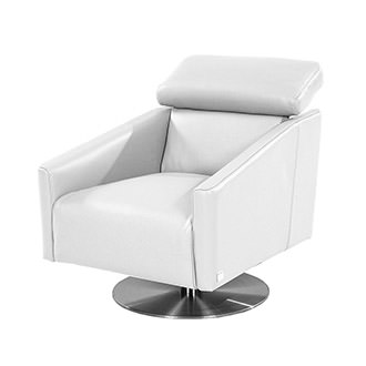 Div Leather Swivel Chair