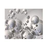 Silver Orbs Acrylic Wall Art  main image, 1 of 4 images.