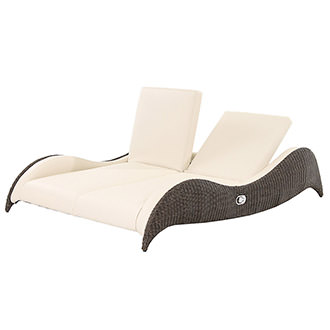 Luxor Brown Double Lounger