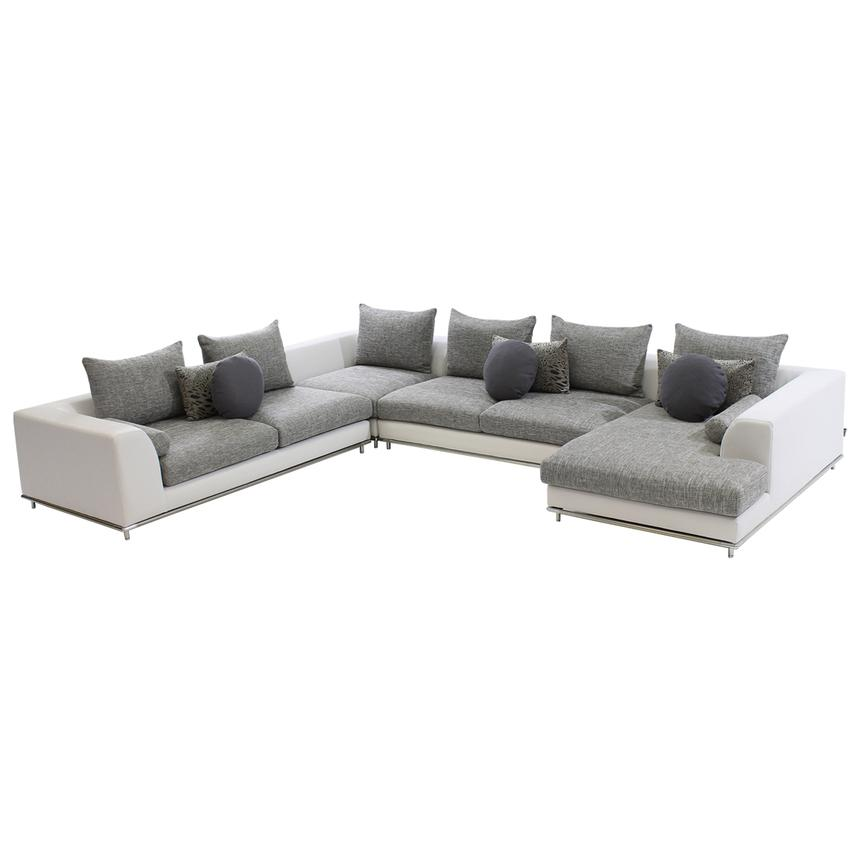 Hanna Sectional Sofa w/Right Chaise  main image, 1 of 9 images.