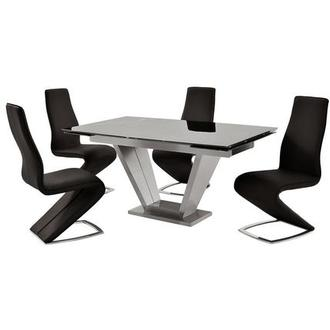 Jessy Black 5-Piece Formal Dining Set