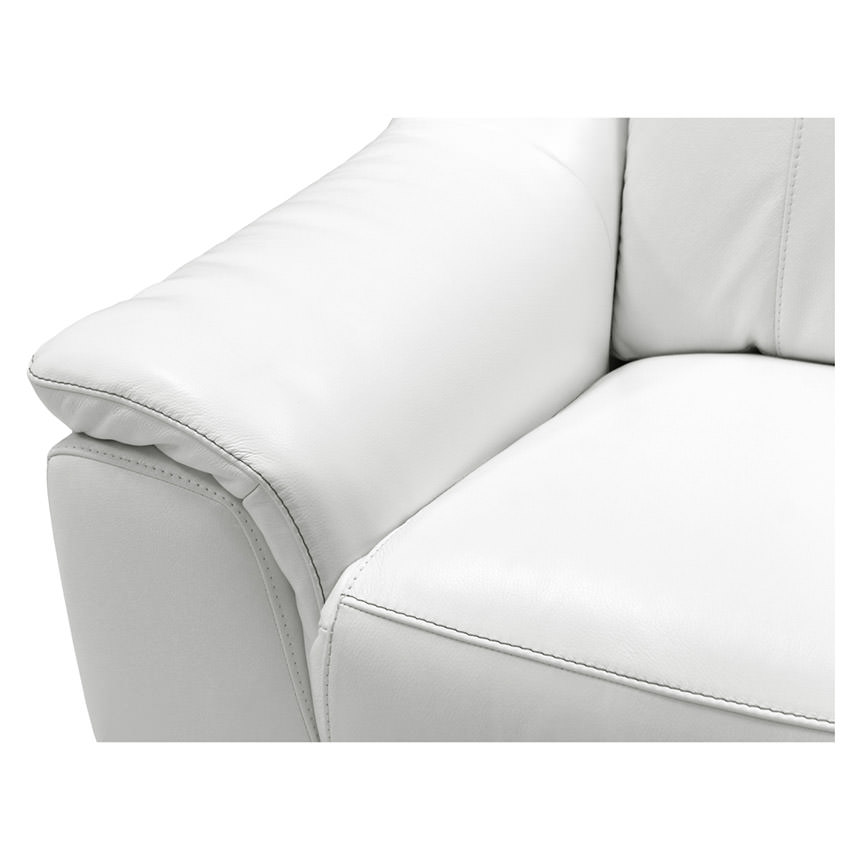 Davis White Power Motion Leather Sofa  alternate image, 9 of 11 images.