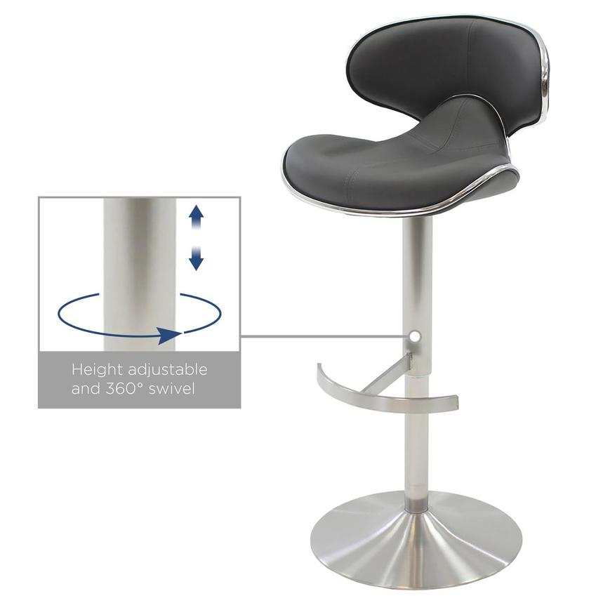 Ecco Gray Adjustable Stool  alternate image, 4 of 6 images.