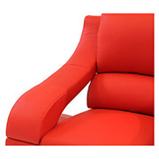 Jedda Red Leather Chair  alternate image, 4 of 5 images.