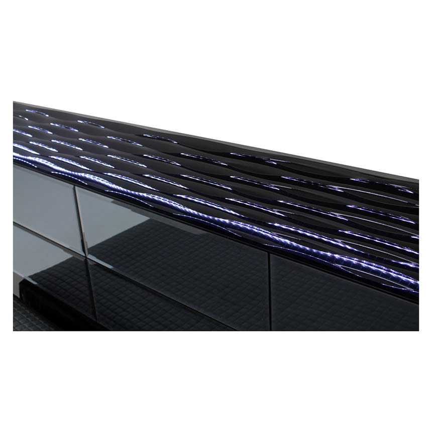 Manhattan Black Mirrored Queen Platform Bed  alternate image, 4 of 5 images.