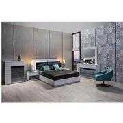 Manhattan White Mirrored King Platform Bed  alternate image, 2 of 4 images.
