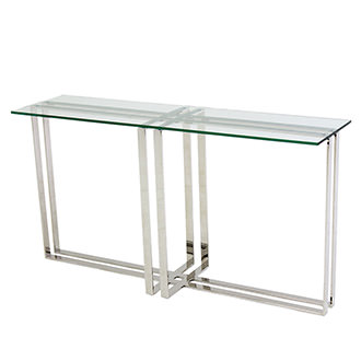 Riga Clear Console Table