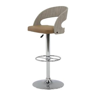 Kadin Taupe Adjustable Stool