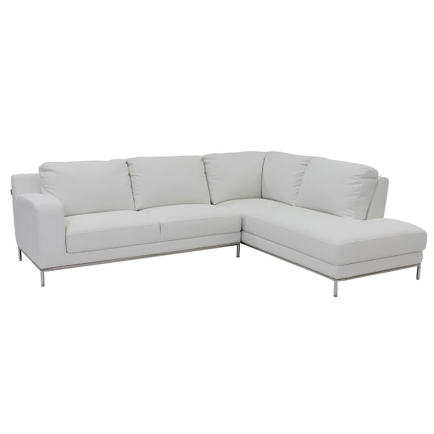Cantrall White Corner Sofa w/Right Chaise  main image, 1 of 9 images.