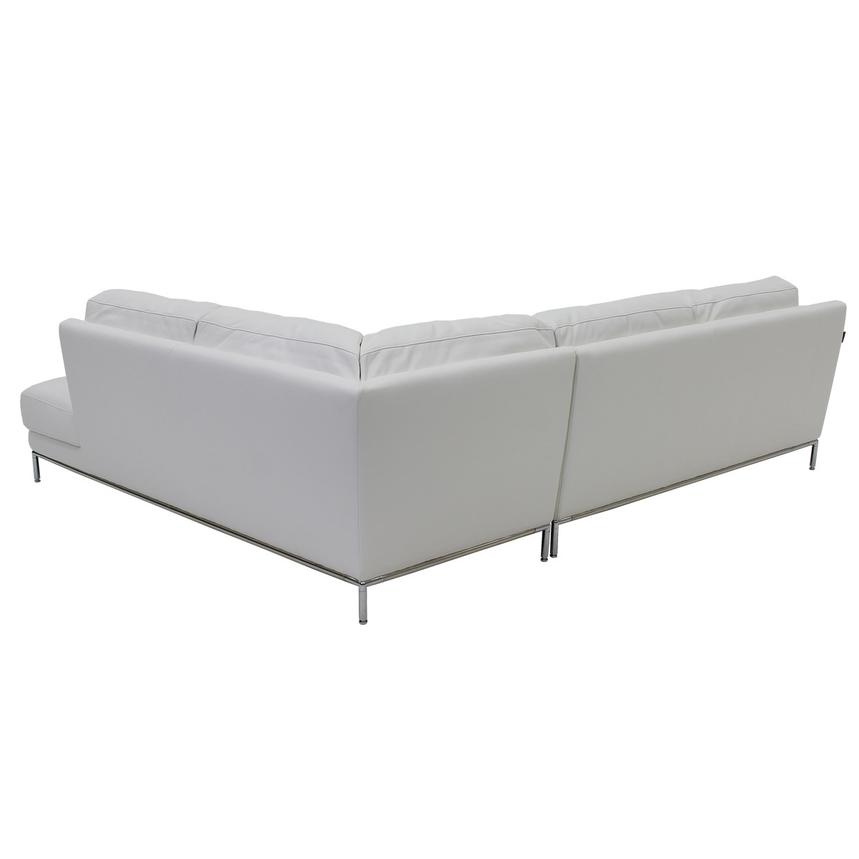Cantrall White Corner Sofa w/Right Chaise  alternate image, 4 of 9 images.