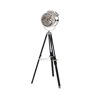 Old Hollywood Sealight Black Floor Lamp