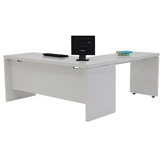 Sedona White L-Shaped Desk
