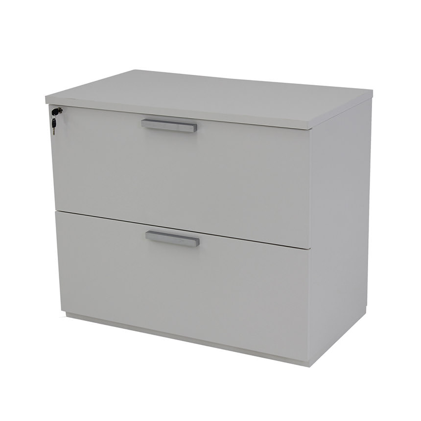 Sedona White Lateral File Cabinet  main image, 1 of 6 images.