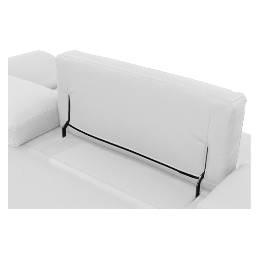 Costa White Sofa w/Left Chaise  alternate image, 5 of 6 images.
