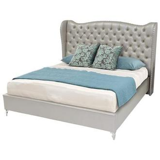Hollywood Loft Frost Queen Platform Bed
