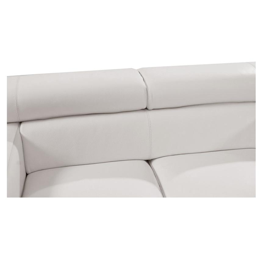 Full Grain Leather Reclining Sofa Blue