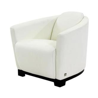 Fellini White Leather Accent Chair