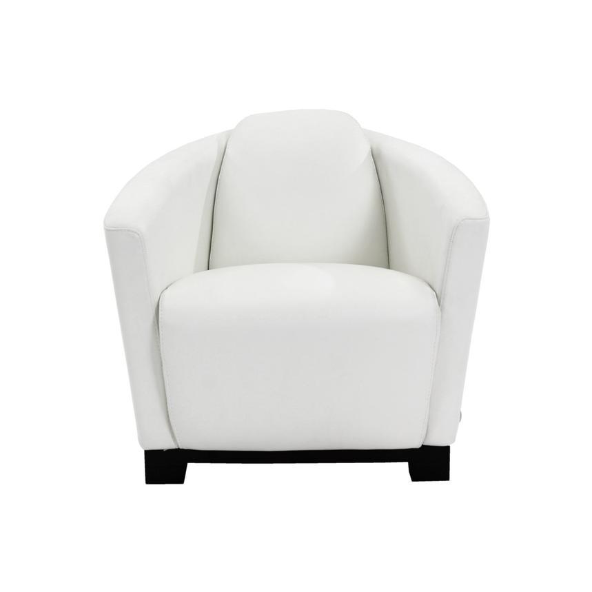 Fellini White Leather Accent Chair El Dorado Furniture