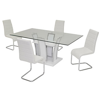 Dash White 5-Piece Dining Set