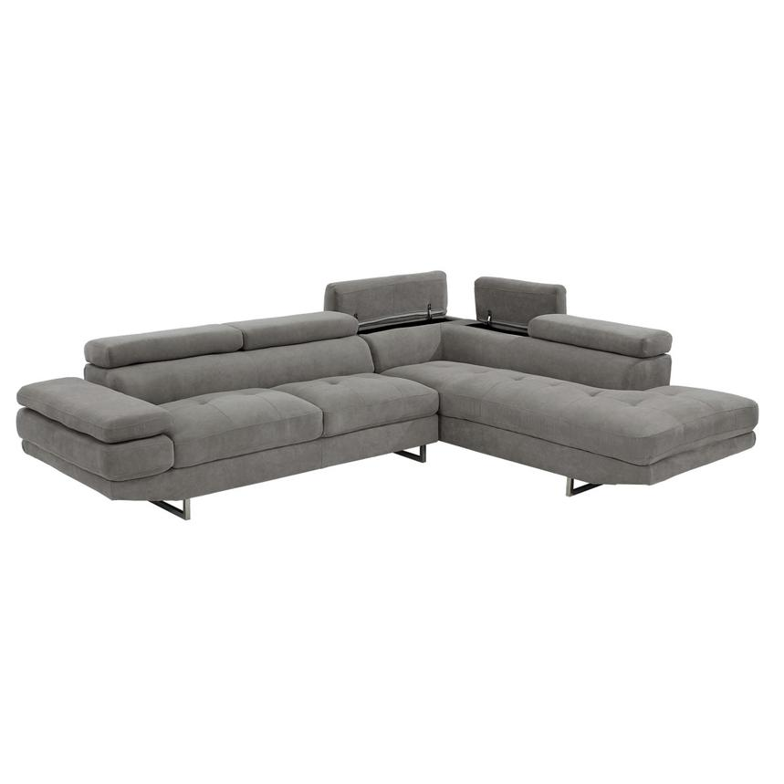Taheri Gray Corner Sofa w/Right Chaise  alternate image, 3 of 8 images.