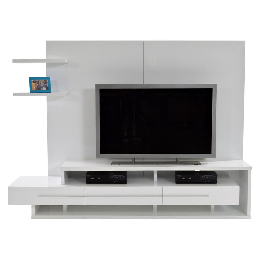 Avanti White Wall Unit  alternate image, 4 of 7 images.