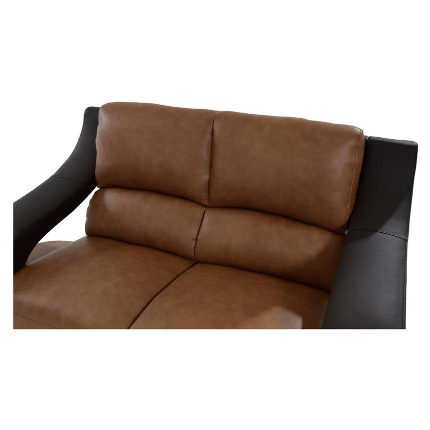 Jedda Camel Leather Loveseat  alternate image, 5 of 10 images.