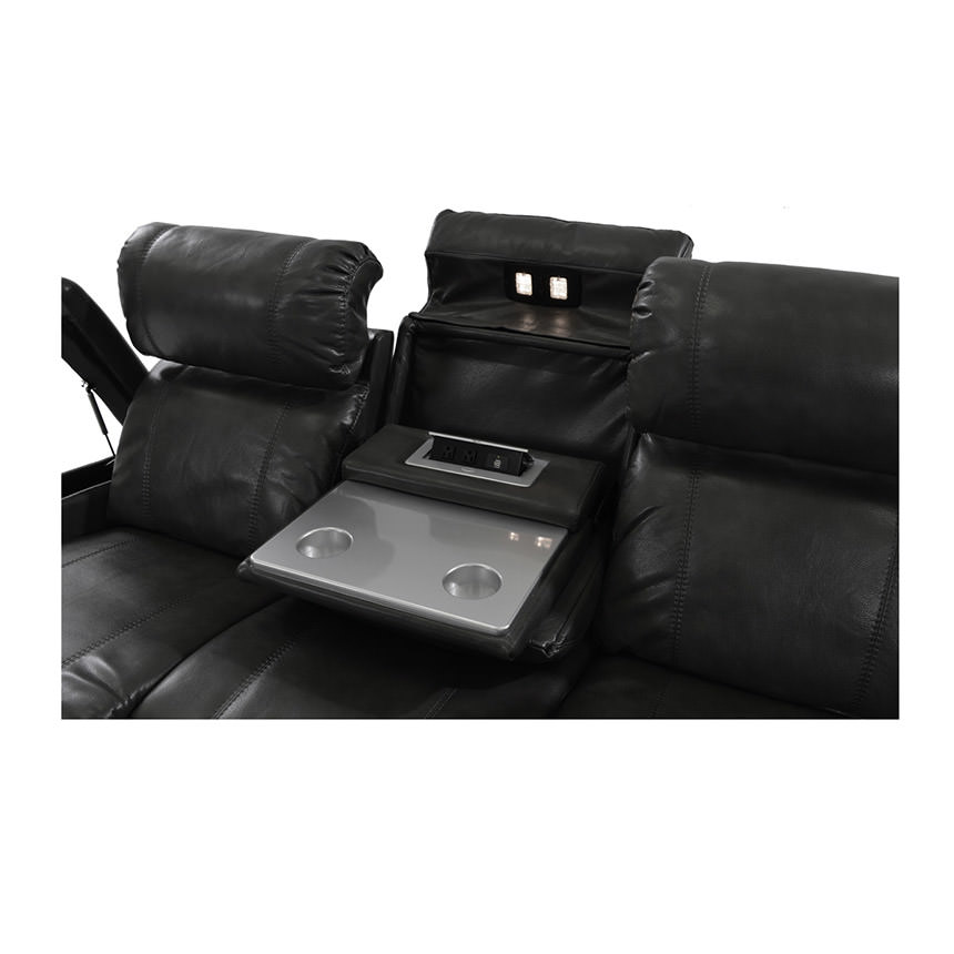 Magnetron Black Power Motion Sofa  alternate image, 5 of 9 images.