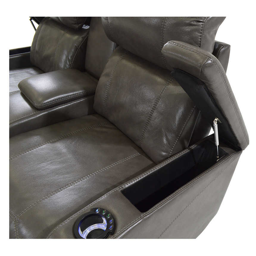 Magnetron Gray Power Motion Sofa w/Console  alternate image, 5 of 7 images.