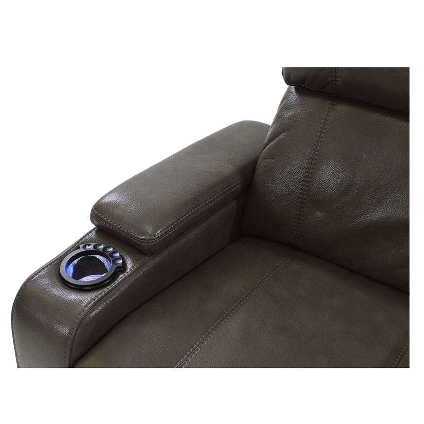 Magnetron Gray Power Motion Recliner  alternate image, 5 of 7 images.