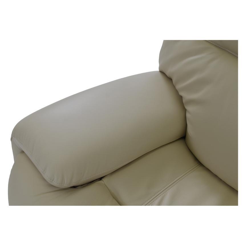 Evian Cream Leather Power Reclining Sofa