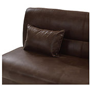 Regata Brown Futon w/Storage  alternate image, 4 of 5 images.