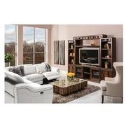 Davis White Power Motion Leather Sofa w/Right & Left Recliners  alternate image, 2 of 8 images.