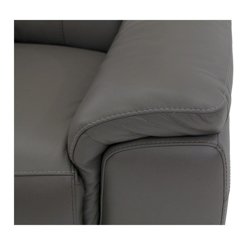 Davis Gray Power Motion Leather Sofa w/Right & Left Recliners  alternate image, 5 of 8 images.
