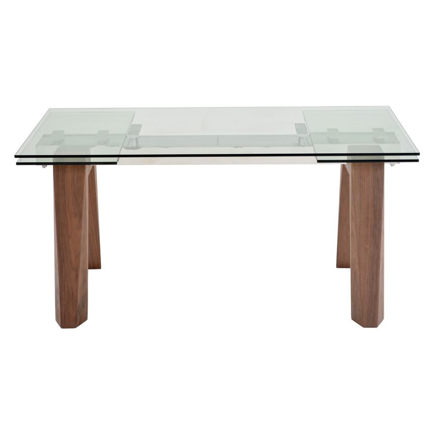 Valencia Brown Extendable Dining Table  alternate image, 4 of 8 images.