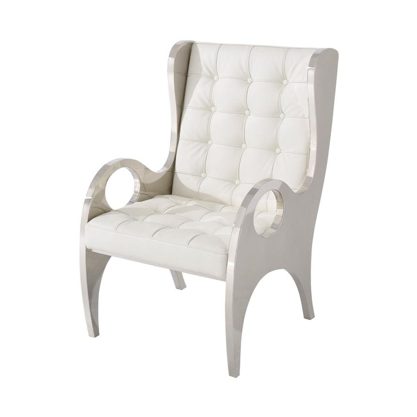 Boss White Accent Chair  main image, 1 of 5 images.