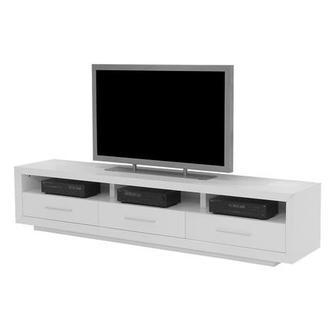 Contour White Tv Stand