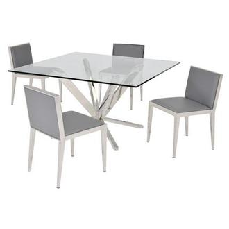 Ghettys I Gray 5-Piece Formal Dining Set