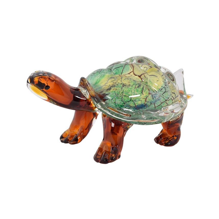 Turtle Glass Sculpture  main image, 1 of 4 images.