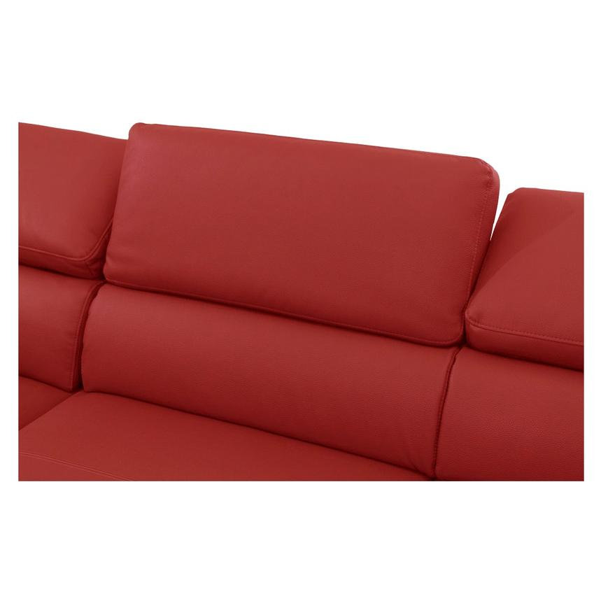 Costa Red Sofa w/Left Chaise  alternate image, 4 of 6 images.