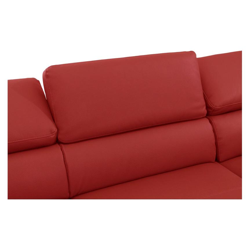 Costa Red Sofa w/Right Chaise  alternate image, 4 of 6 images.