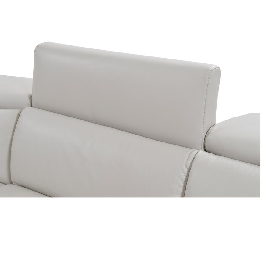 Bay Harbor Light Gray Leather Power Reclining Sectional w/Right Sleeper  alternate image, 4 of 7 images.