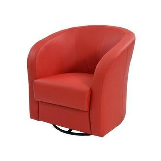 Delia Red Swivel Accent Chair